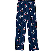 Outerstuff Youth Atlanta Braves Navy Logo Print Sleep Pant