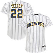 Nike Youth Replica Milwaukee Brewers Christian Yelich #22 Cool Base White Jersey