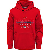 Nike Youth St. Louis Cardinals Red Dri-FIT Therma Pullover Hoodie