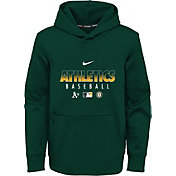 Nike Youth Oakland Athletics Green Dri-FIT Therma Pullover Hoodie