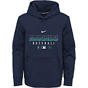 Nike Youth Seattle Mariners Navy Dri-FIT Therma Pullover Hoodie