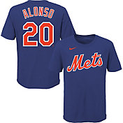 Nike Youth New York Mets Pete Alonso #20 Blue 4-7 T-Shirt