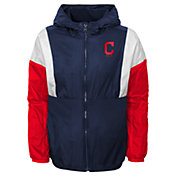 Gen2 Youth Cleveland Indians Navy Long Sleeve Windbreaker Jacket