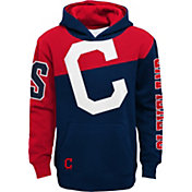 Outerstuff Youth Cleveland Indians Navy Slub Pullover Hoodie