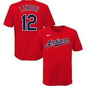 Nike Youth Cleveland Indians Francisco Lindor #12 Red T-Shirt