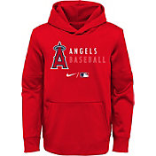 Nike Youth Los Angeles Angels Sideline Therma-FIT Red Pullover Hoodie