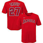 Nike Youth Los Angeles Angels Mike Trout #27 Red T-Shirt