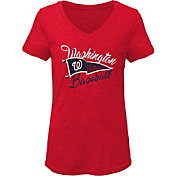 Gen2 Youth Girls' Washington Nationals Red Fly the Flag V-Neck T-Shirt