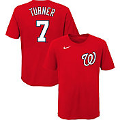 Nike Youth Washington Nationals Trea Turner #7 Red T-Shirt