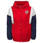 Gen2 Youth Washington Nationals Red Long Sleeve Windbreaker Jacket