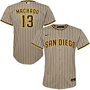 Nike Youth Replica San Diego Padres Manny Machado #13 Cool Base Brown Jersey
