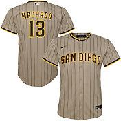 Nike Youth Replica San Diego Padres Manny Machado #13 Cool Base Brown Jersey