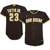 Nike Youth Replica San Diego Padres Fernando Tatis Jr. #23 Cool Base Brown Jersey