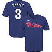 Nike Youth Philadelphia Phillies Bryce Harper #3 Blue T-Shirt
