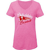 Gen2 Youth Girls' Philadelphia Phillies Pink Fly the Flag V-Neck T-Shirt