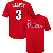 Nike Youth Philadelphia Phillies Bryce Harper #3 Red 4-7 T-Shirt