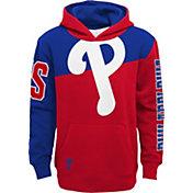 Outerstuff Youth Philadelphia Phillies Red Slub Pullover Hoodie