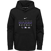 Nike Youth Colorado Rockies Black Dri-FIT Therma Pullover Hoodie