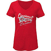 Gen2 Youth Girls' Cincinnati Reds Red Fly the Flag V-Neck T-Shirt