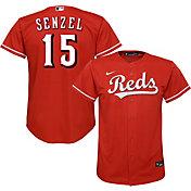 Nike Youth Replica Cincinnati Reds Nick Senzel #15 Cool Base Red Jersey