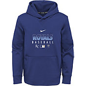 Nike Youth Kansas City Royals Blue Dri-FIT Therma Pullover Hoodie
