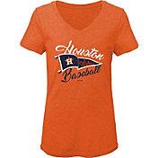 Gen2 Youth Girls' Houston Astros Orange Fly the Flag V-Neck T-Shirt