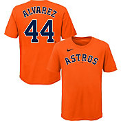 Nike Youth Houston Astros Yordan Alvarez #44 Orange T-Shirt