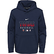 Nike Youth Minnesota Twins Navy Dri-FIT Therma Pullover Hoodie