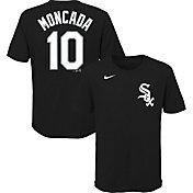 Nike Youth Chicago White Sox Yoan Moncada #10 Black T-Shirt