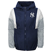Gen2 Youth New York Yankees Navy Long Sleeve Windbreaker Jacket