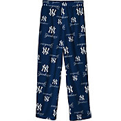 Outerstuff Youth New York Yankees Navy Logo Print Sleep Pant