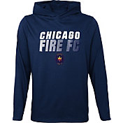 Outerstuff Youth Chicago Fire Blocker Navy Long Sleeve Hoodie