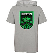 Outerstuff Youth Austin FC On Guard Grey Short Sleeve Hoodie