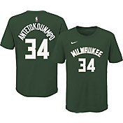 Nike Youth Milwaukee Bucks Giannis Antetokounmpo #34 Green Cotton T-Shirt