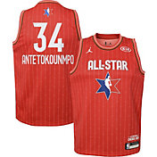 Jordan Youth 2020 NBA All-Star Game Giannis Antetokounmpo Red Dri-FIT Swingman Jersey