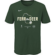 Nike Youth Milwaukee Bucks Green 2020 Playoffs Bound 'Fear the Deer' Mantra T-Shirt