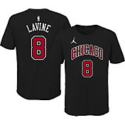 Jordan Youth Chicago Bulls Zach LaVine #8 Statement Black T-Shirt