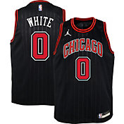 Jordan Youth Chicago Bulls Coby White #0 2020-21 Dri-FIT Statement Swingman Black Jersey