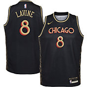Nike Youth 2020-21 City Edition Chicago Bulls Zach LaVine #8 Dri-FIT Swingman Jersey