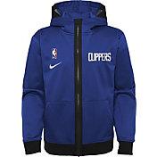 Nike Youth Los Angeles Clippers Blue Spotlight Full-Zip Hoodie