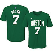 Nike Youth Boston Celtics Jaylen Brown #7 Green Cotton T-Shirt