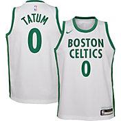 Nike Youth 2020-21 City Edition Boston Celtics Jayson Tatum #0 Dri-FIT Swingman Jersey