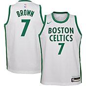 Nike Youth 2020-21 City Edition Boston Celtics Jaylen Brown #7 Dri-FIT Swingman Jersey
