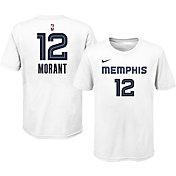 Nike Youth Memphis Grizzlies Ja Morant #12 Cotton White T-Shirt