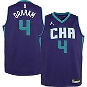 Jordan Youth Charlotte Hornets Devonte' Graham #4 Purple 2020-21 Dri-FIT Statement Swingman Jersey