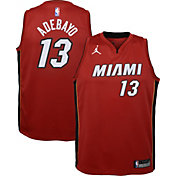 Jordan Youth Miami Heat Bam Adebayo #13 Red 2020-21 Dri-FIT Statement Swingman Jersey