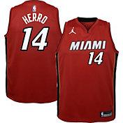 Jordan Youth Miami Heat Tyler Herro #14 Red 2020-21 Dri-FIT Statement Swingman Jersey
