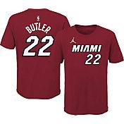 Jordan Youth Miami Heat Jimmy Butler #22 Red Statement T-Shirt
