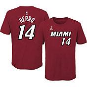 Jordan Youth Miami Heat Tyler Herro #14 Red Statement T-Shirt