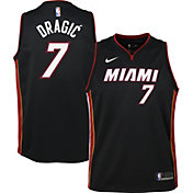 Nike Youth Miami Heat Goran Drajic#7 Black Dri-FIT Swingman Jersey
